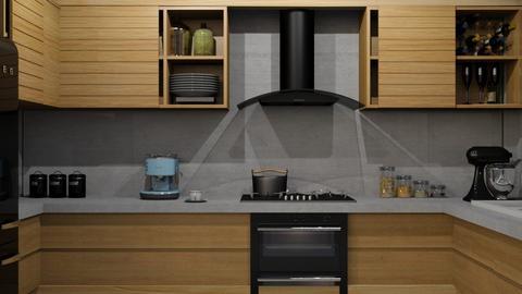 SMALL KITCHEN wood - Kitchen - by fungiperfecti
