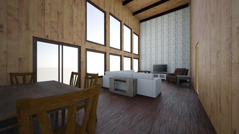 Larson Lodge Living Room - Rustic - Living room - by ljlarson42