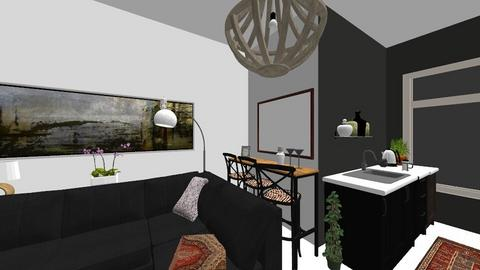 Flat 1 kitchen and lounge - Living room - by macdebdesign