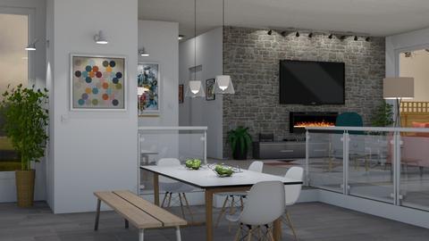 Modern Ranch - Living room - by GraceKathryn