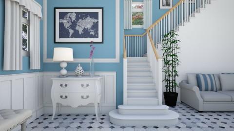 living room staircase  - Modern - Living room - by tekle