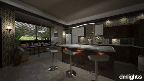 Heromi - Eclectic - Kitchen - by DMLights-user-981898