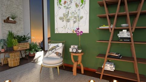 Green nook - Living room - by Inna_Inas