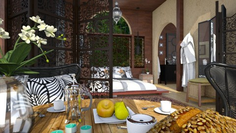 Thai Vacation Hut_2 - Global - Bedroom - by evahassing