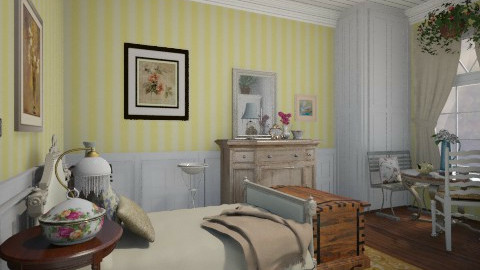 Cottage Bedroom - Country - Bedroom - by PomBom