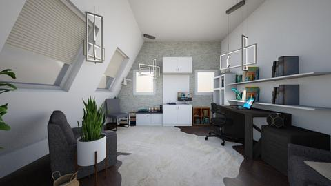 Office 2 - Modern - Office - by Isaacarchitect