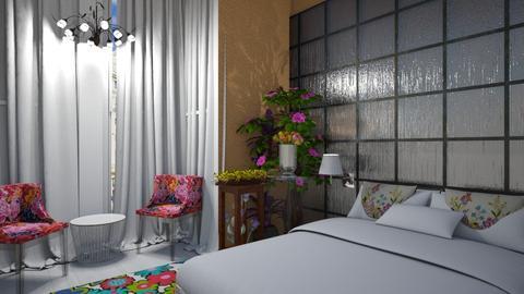 floral - Bedroom - by wiwa