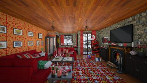 Merry Xmas - Rustic - Living room - by Joao M Palla