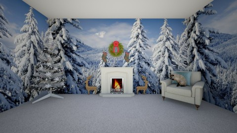 Simple Christmas - Living room - by AmelieDoughty