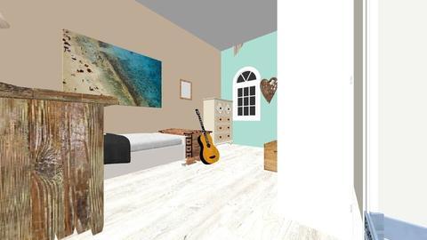 Beach_Teen_room - Rustic - Bedroom - by BeautifulB