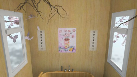Peaceful Japanese Bathing - Global - Bathroom - by Aden Thompson