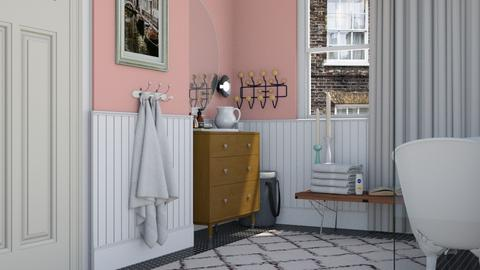 Pink bathroom - Vintage - by HenkRetro1960