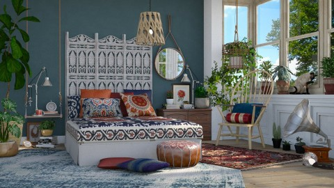 Bohemian Bedroom - Eclectic - Bedroom - by maja97