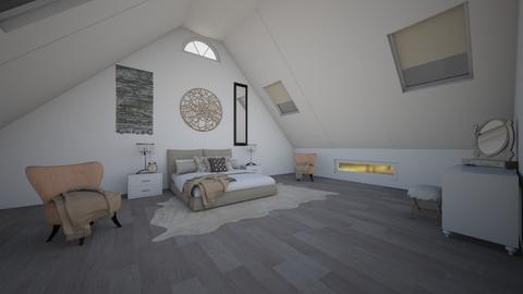Attic Room - Feminine - Bedroom - by Joy Oke