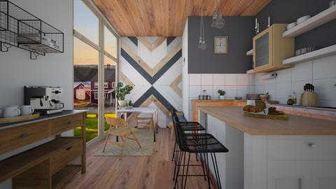wood - Kitchen - by Reka7