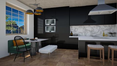 Cooking in Black - Modern - Kitchen - by 3rdfloor