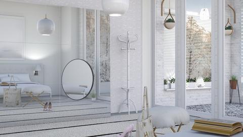 M_ White bedroom - Bedroom - by milyca8