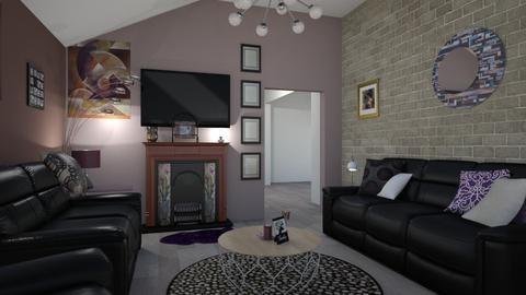 Purple Living Room - by jdenae3