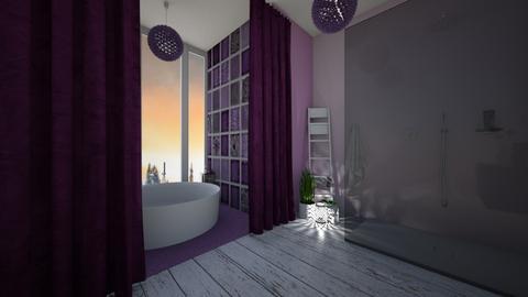 Purple bathroom - Bathroom - by Denisa250