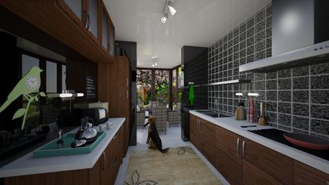 Kitchen Conservatory_NaKo - Kitchen - by NaKo