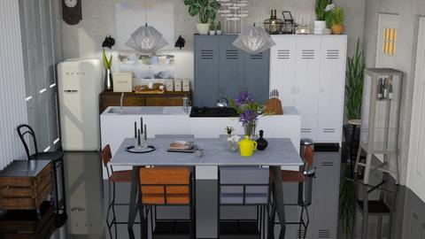 industrial kitchen dining - Dining room - by HenkRetro1960