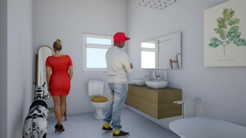 to many in one bathroom - Modern - Bathroom - by henriea Rollins