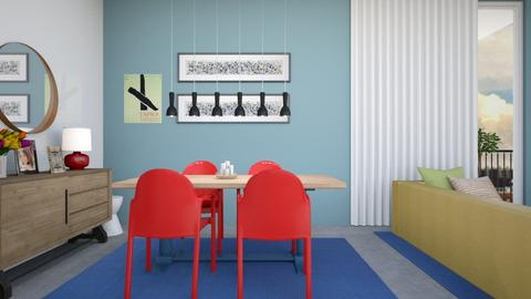 Colorful Dining - Dining room - by fashionistafalida
