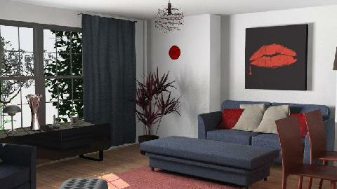 RWB and Black - Living room - by Lisa R