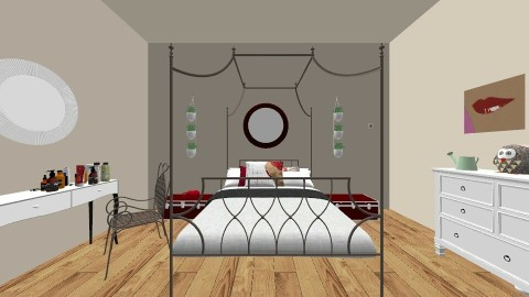 red - Bedroom - by molly528