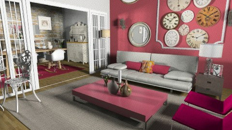 time room - Retro - Living room - by Cejovic Andrijana