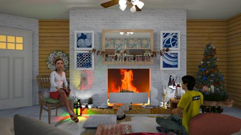Brandy by the fire  - Living room - by Tree Nut