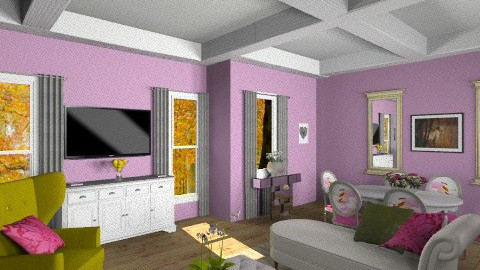fresh colours living room - by iamakittycat