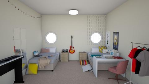 Designer Musician Dorms - Bedroom - by g l o o m y