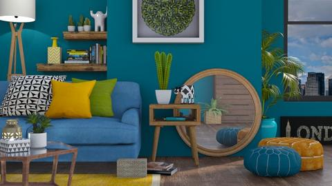 Eclectic Colour - Living room - by LB1981