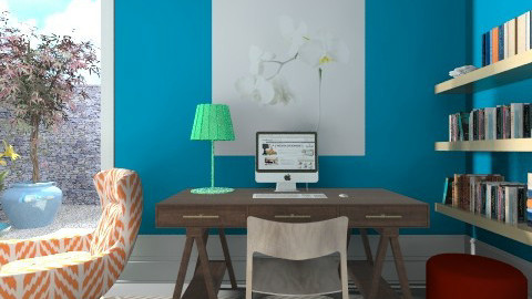Blue Study - Modern - Office - by 3rdfloor