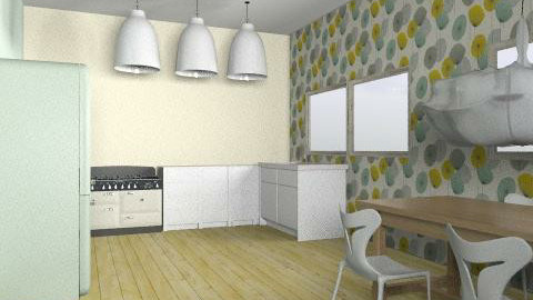 kitchen  - Retro - Kitchen - by harrietw123
