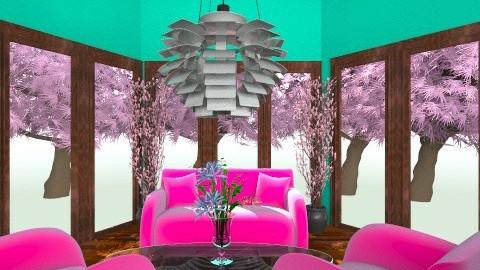 Retro Room - Retro - Living room - by dancergirl1243