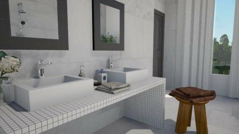 Double - Glamour - Bathroom - by monikica