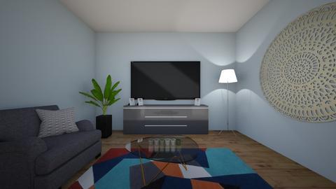 First work - Classic - Living room - by Anastazija Kalcov