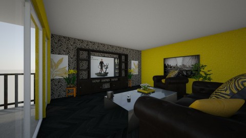 Yellow n Black Apartment - by lil Lew