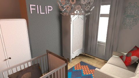 Modern lively nursery4 - Retro - Kids room - by natienka