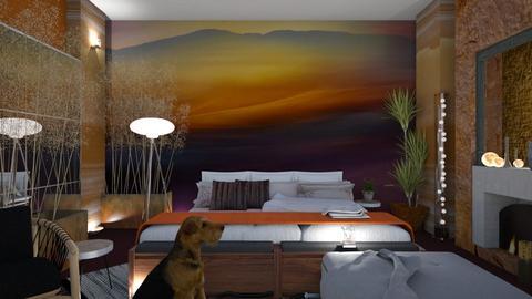 Mural Bedroom - Rustic - Bedroom - by Sue Bonstra