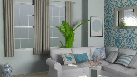 The Blue Lounge - Feminine - Living room - by FranklyDear