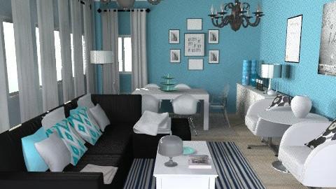 Upscale Bluesssss - Dining room - by bibiboo
