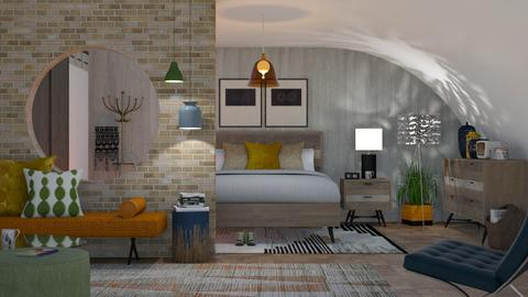 Mid Century Bedroom - by Roquette