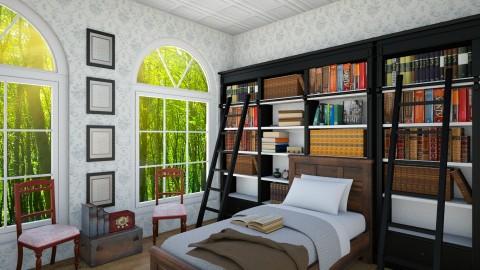 Vintage bedroom - Bedroom - by Becausecats11