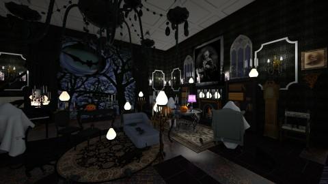 Halloween - Retro - Living room - by kla