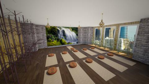 yoga studio - Rustic - by Irene Klinkenberg