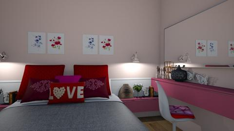 pink - Modern - Bedroom - by matina1976