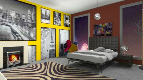Urban Bedroom - Modern - Bedroom - by mpy1999
